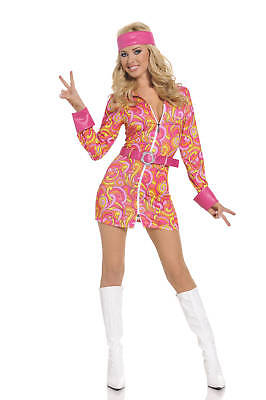 Sexy Adult Halloween Seven 'Til Midnight Retro Hippie Girl Costume](Seven Til Midnight Halloween Costumes)