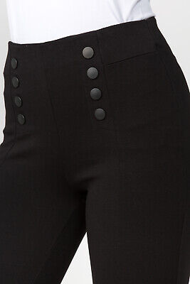 Party Ci (Women Black Leggings Pants stretch Stylish comfort Ci Sono PP102 NEW)