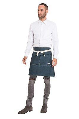 Denim Barista Apron - Vintage wash Chef Waiter Uniform Waist Apron