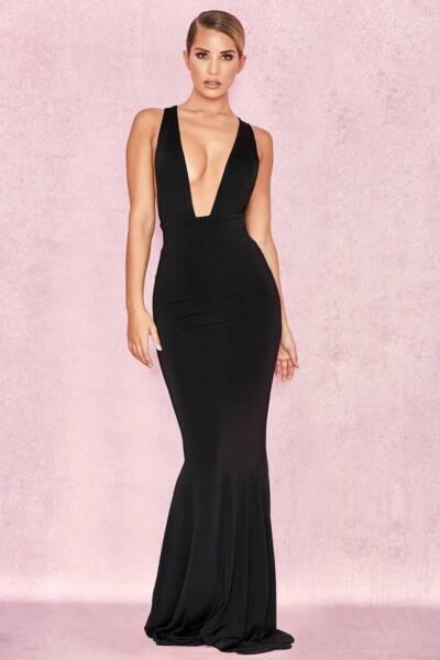 House Of Cb Long Black Formal Dress Formal Gumtree Australia