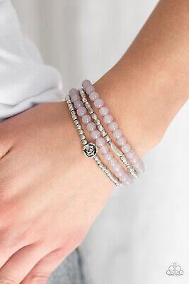 Paparazzi Bracelet Costume Jewelry Silver Purple Rose - Blooming Buttercups](Paparazzi Costumes)