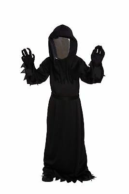 Halloween Fancy Dress Up Costume Childs Boys Death Grim Reaper Outfit Party NEW