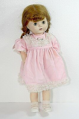 "Vintage Large Walker Doll Sleepy Eyes ~ Dressed 22"" 50's Estate ~ Display / TLC"