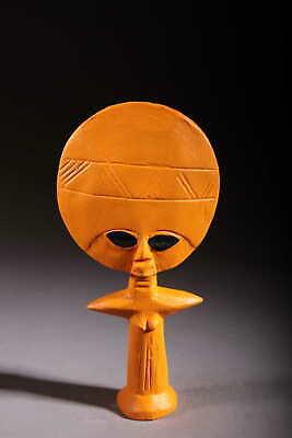 Art Contemporary African Doll Ashanti Orange 138