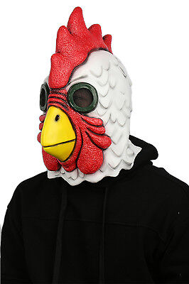 US SHIP Latex Mask Adult Halloween Richard Rooster Mask Hotline Miami Cosplay