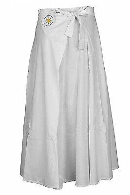Blank White Cotton Wrap Skirt w/ Hidden Zipper Pocket Custom DIY Tie Dye PFD Cotton Long Skirt Wrap