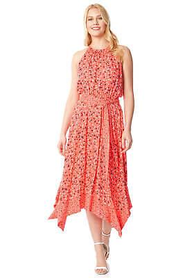 Halter Neck Hanky Hem Midi Dress - Summer Casual - Roman Originals Women  (Roman Dress Women)