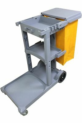 Commercial Housekeeping Janitorial Cart With Cover And Vinyl Bag