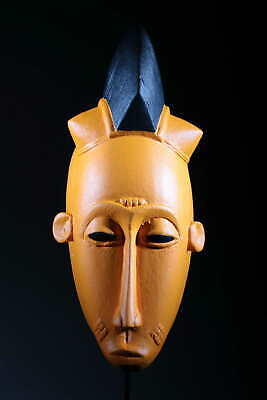 Art Contemporary African Mask Baoulé Orange 135