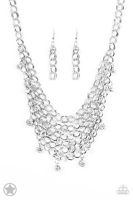 Paparazzi Necklace   Fishing For Compliments   Silver