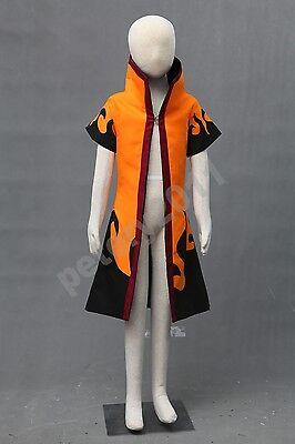 Naruto Uzumaki Children Kids Cosplay Costume Outercoat Cloak Coat Child](Naruto Baby Costume)