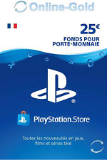 Carte Playstation Network 25 EUR - €25 PSN Jeu PS3 PS4 PS Vita Compte français