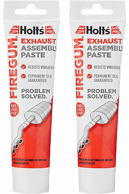 2 x HOLTS FIRE GUM GUN EXHAUST SILENCER ASSEMBLY JOINTS SEAL PASTE PUTTY 150G