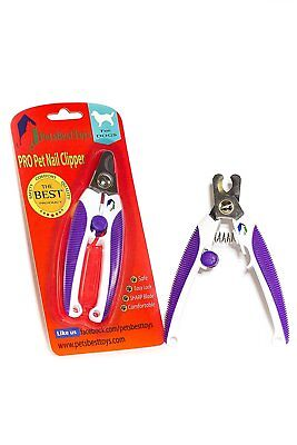 PET NAIL clippers-Best for Small & Medium Dogs and Cats. SAFE AND CLEAN nail