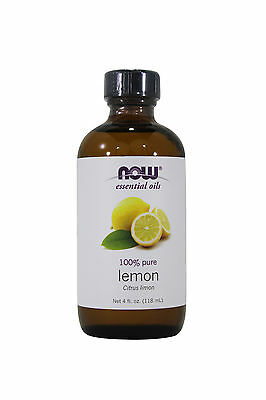 NOW Foods Lemon Essential Oil 4 oz for diffusers and burners Aura Cacia Massage Aromatherapy