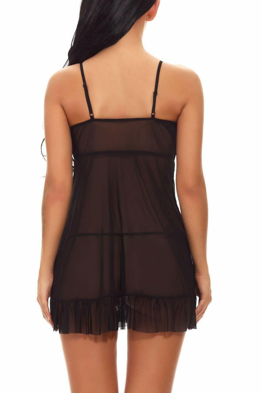 Plus Size Women Sexy Lingerie Open Cup Chemise Nightwear Romence Sleepwear US Clothing, Shoes & Accessories