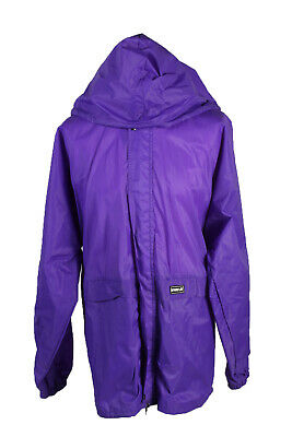 K-Way Waterproof Raincoat Festival Outdoor Jacket Unisex XXL Purple - SW2560