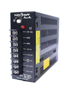 Photo Suzo Happ 15 AMP Switching Power Supply Arcade Multicade 8 Liner Games