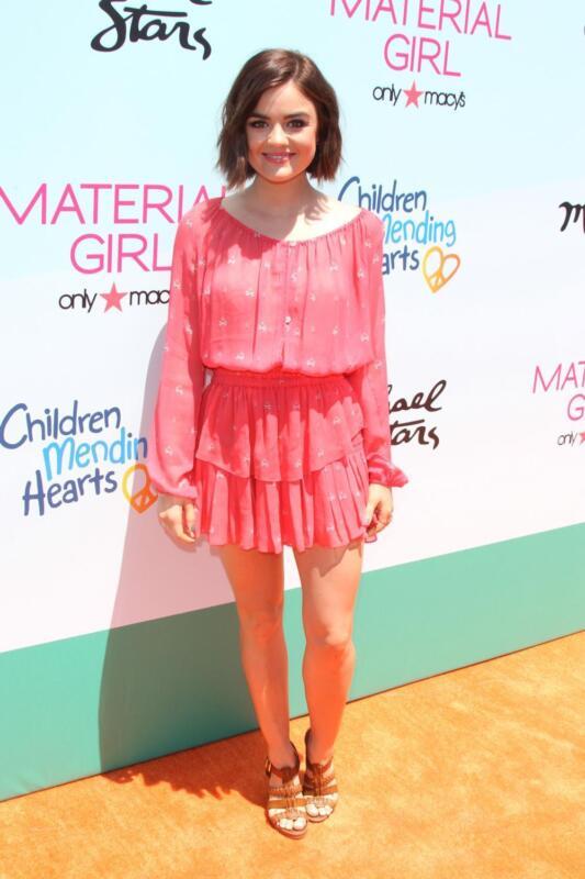 Lucy Hale Posing Pink Dress 8x10 Photo Print