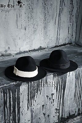 ByTher Men s Flat Rope Decoration High Quality Wool Felt Mountain Fedora Hat  UK Item Number  111977123585 fda1e911a1fb