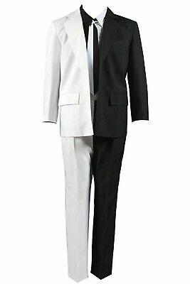 Two Face Suit (Batman Two-Face Harvey Dent Cosplay Costume Tie Jacket Black White Suit)
