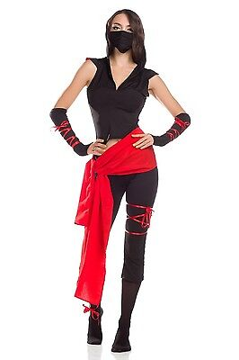 Ladies Deadly Spirit Ninja Samurai Master Costumes Halloween Fancy Dress Outfits - Ninja Costume Spirit Halloween