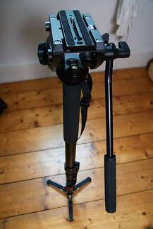 Manfrotto MVM-500A Fluid Monopod with 500 Series Head and Case