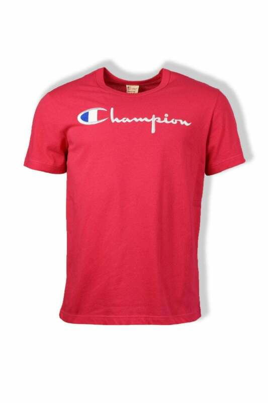Champion Script Crew-Neck T-Shirt Azalea