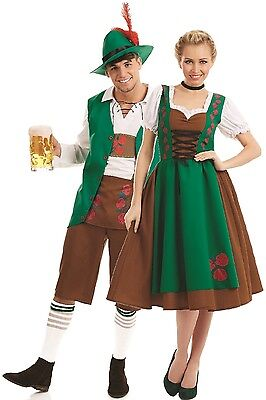 Couples Ladies AND Mens Traditional Bavarian German Fancy Dress Costumes Outfits - German Ladies Traditional Dress