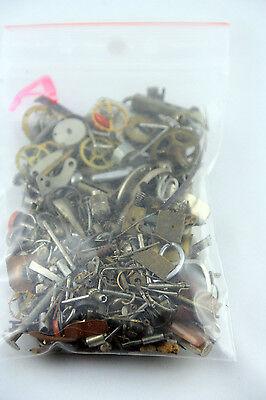 Steampunk Konvolut alte Uhrenteile 150 g. Gemischt, Zahnräder etc., A