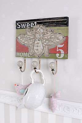VINTAGE HOOK STRIP COAT TOWEL RACK HOOK ANTIQUE STYLE COUNTRY HOUSE