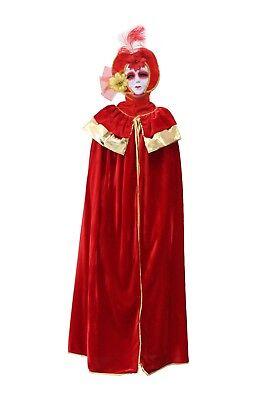 DOMINO VENEZIA ROSSO costume CARNEVALE completo uomo o donna PEGASUS - Venezia Carnevale Kostüm
