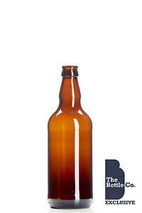 50 X 500ml BROWN / AMBER GLASS BEER CIDER BOTTLES HOMEBREW NEW