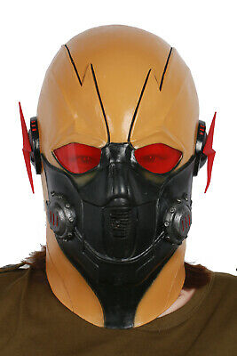 crisis on earth 10 Latex Mask TV Cosplay Dark Flash Props For Halloween - Masks For Halloween Cheap