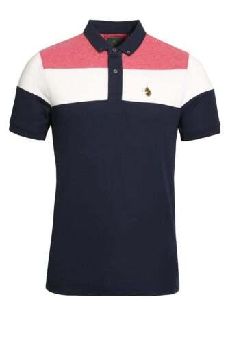 Mens Polo Shirt LUKE SPORT Minter Cotton Pique Polo Shirt Black