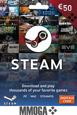 €50 Cartes cadeau Steam - 50 EURO Porte-monnaie Steam Card codice digitale - FR