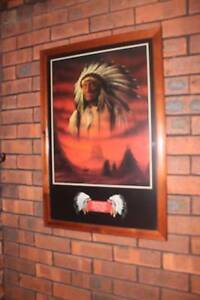 Wooden frame Indian prints Roleystone Armadale Area Preview