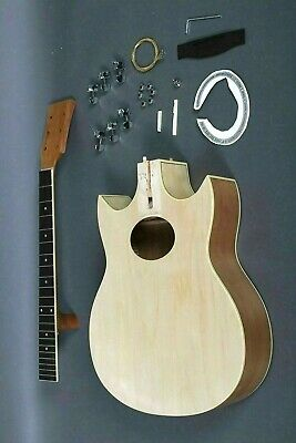 BUILD YOUR OWN GREAT PLAYING 6 STRING DOUBLE CUTAWAY ACOUSTIC GUITAR