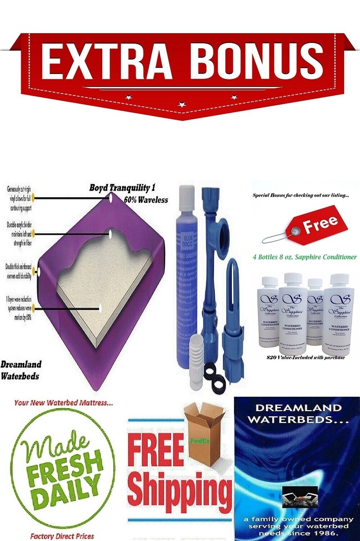 SUPER SINGLE 48 X 84 Boyd 60% Waveless Waterbed Mattress &