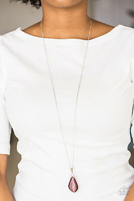 Paparazzi Jewelry asymmetrical purple moonstone necklace & Earrings