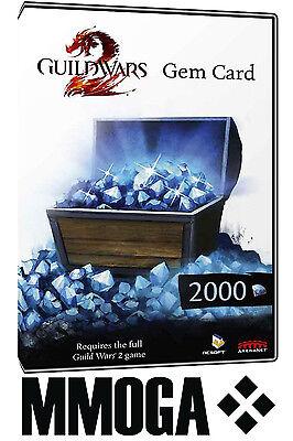 2000 Guild Wars 2 Gem Card Key - 2000 GW2 Gems zum einlösen ingame [DE][EU][PC]