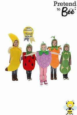 KIDS GIRLS BOYS CHILDRENS CHILDS FRUIT BANANA STRAWBERRY GRAPES COSTUME AGE - Kids Fruit Costumes