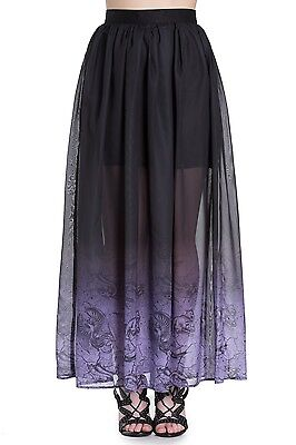 SPIN DOCTOR HELL BUNNY EVADINE GOTHIC WITCH VICTORIAN LONG MAXI SKIRT 5392 Clothing, Shoes & Accessories