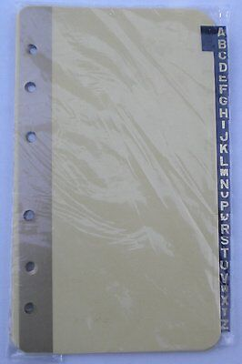 A-z Index Dividers For Mead 5 X 3 6-ring Binders 46030 13-tab Set