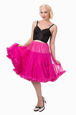 illy Super Soft 23 inches Petticoat Skirt By Banned Apparel (Hot Pink Petticoat)
