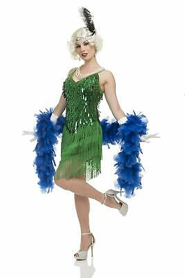 1920's Green Flapper Roaring 20's Speakeasy Fancy Dress Halloween Adult Costume - Roaring Twenties Halloween Costumes