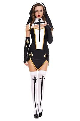 Music Legs Bad Habit Nun Costume - ML-70259 - Bad Habit Nun Costume