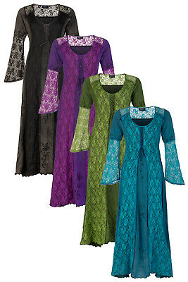 New Medieval Style Long Dress Bell Sleeves Pagan Clothes up to PLUS SIZE - Plus Size Medieval Clothing