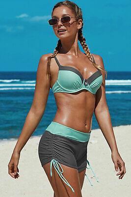 "Bikini mit Boardshort ""aqua"" Gr. 46 (XL) CUP C"