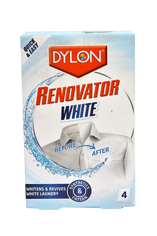 Dylon Renovator White (Whitens & Revives White Laundry) 4 Sachets